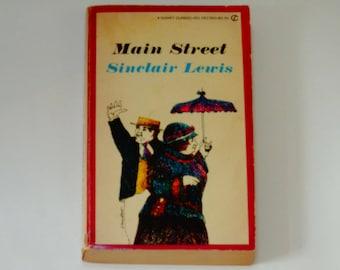 Sinclair Lewis - Main Street - American Literature - Classic Novel - Signet Classic Paperback 1980 - Satirical Fiction Book - Vintage Book