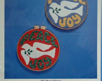 "Dove of Peace 14"" Hoop Applique Pattern"