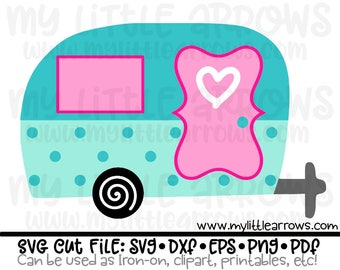 Retro camper SVG - summer svg - camping svg - vacation svg - traveling svg - happy camper svg  - fun camping svg- glamping svg - iron on