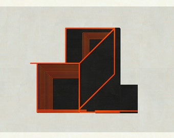 MId Century Modern Art, Geometric Art, Geometric Wall Art, Modern Art, Geometric Print, Minimalist Art