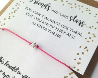 Travel Gift, Wish Bracelet Friend, Friendship Bracelet, Wish Bracelet, Friend Bracelet, Birthday Card, Best Friends Gift, Birthday Gift