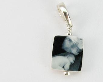 C4 - The perfect custom Photo Charm for any size wrist - Mini Charm - Handmade Photo Jewelry