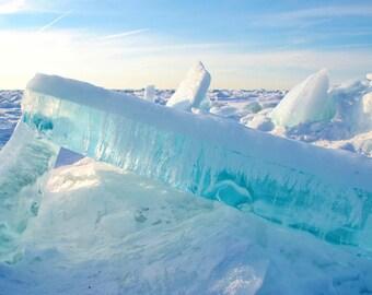 Nature Photography: Frozen Lake Michigan CANVAS