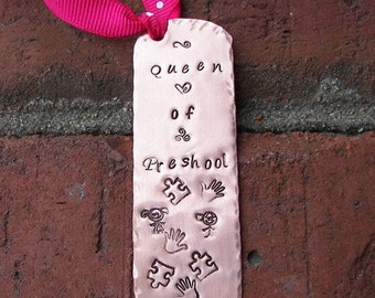 Custom book mark, Handstamped bookmark, hand stamped jewelry, book mark, personalized bookmark, engraved , custom stamped, hand stamped