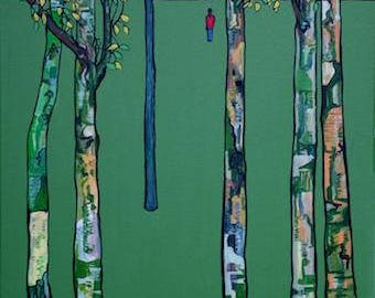 Birch Trees and figure