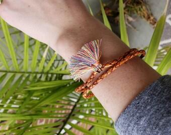 tassel wrap bracelet