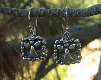 Tibetan & Sterling Silver Angel Earrings