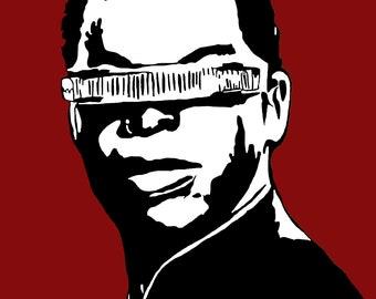 Geordi La Forge from Star Trek Art Print
