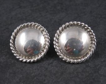 Vintage Southwestern Sterling Concho Earrings
