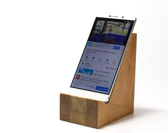 Wooden Mobile Cell Phone Stand – Fits Any Size Phone