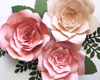 Paper flower kit do it yourself paper flower kits paper paper flower kit diy paper flower kits nursery decor over the crib paper mightylinksfo Images