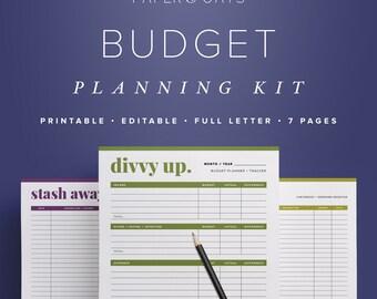 Budget Planner Printable, Finance Printable, Printable Budget Kit, Budget Binder, Monthly Budget Planner PDF, Debt Planner, Personal Finance