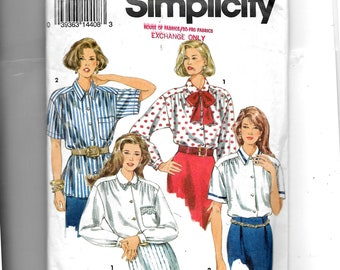 Simplicity Misses' Shirt and Tie Pattern 8558