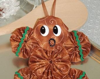 Gingerbread Yo Yo  Ornament - Gingerbread Cookie GB39