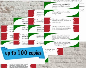 Printable Advent Calendar - Small & Medium Church Use (up to 100 families)