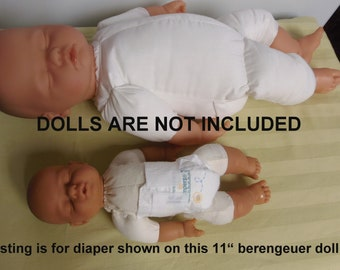 4 Tiny Pampers Preemie Diapers For Small Tiny Dolls