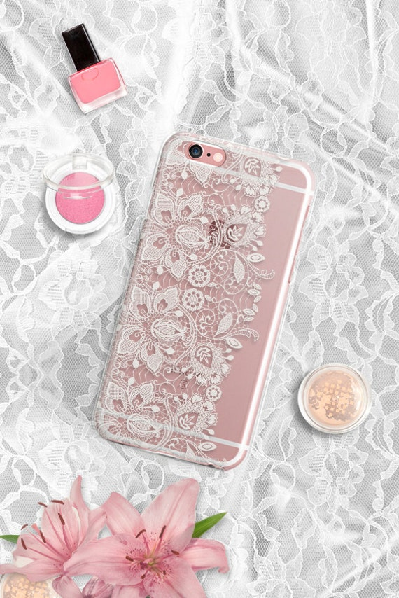 Samsung Galaxy S7 Case Lace Samsung S6 case Clear iPhone 7 Plus Case Rubber iPhone 6 Plus Clear Samsung S7 Edge case Clear iphone 5s case