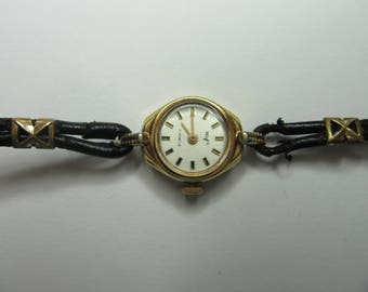 Laeds watch, maker wofs 17 jewels,mecanical working well, presentibel, collectibel gold plated.