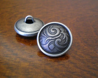 """2 - Caribou Metal Buttons with Shank  3/4"""" (19mm)"""