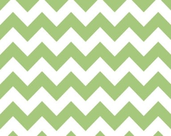 40% OFF SALE!  Chevron Medium Green - Riley Blake