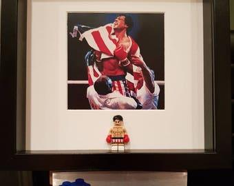 Rocky 3D lego frame boxing Sylvester Stallone