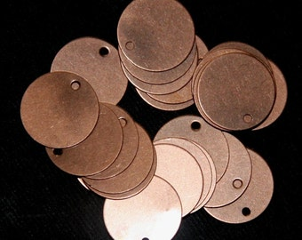 50 pcs of Antiqued copper coin disc 15mm