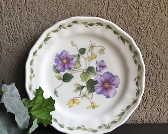 Noritake Gourmet Garden Clematis Salad Plate Vintage Purple Floral Casual China - #M1027