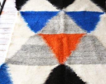 Wool rug Scandinavian rug Swedish rug Nursery rug Hooked rugs Nursery decor Home decor Hand hooked rug Gift for mom Gift for her Carpet Rug
