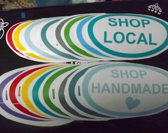Shop Local window decal