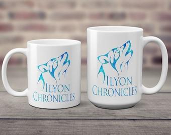 Ilyon Chronicles Blue Wolf Coffee Mug