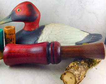 Duck Call Single Reed in  Redheart and Walnut  #302