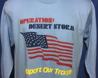 Vintage 90s Operation Desert Storm long sleeve t shirt *M