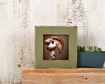 "5x5"" Picture Frame in 1.5 Standard Style  with Super Vintage Old Green Finish - IN STOCK - Same Day Shipping - 5 x 5 Gift Frame"