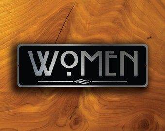 WOMENS RESTROOM SIGN, Women Restroom Signs, Women Door Sign, Women Restroom Door Plaque Sign, Restroom Signs, Restroom Decor, Women Sign