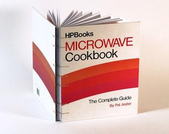 Vintage Book Journal / Sketchbook - Microwave Cookbook