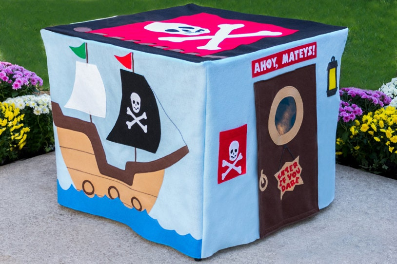 ?zoom & Pirate Adventure Card Table Playhouse Play Teepee Kids