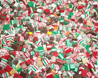25 Dollhouse Miniature Handcrafted Christmas Hard Candy Sweet Dessert Food Fashion Size Doll -see Barbie Hand for reference to size
