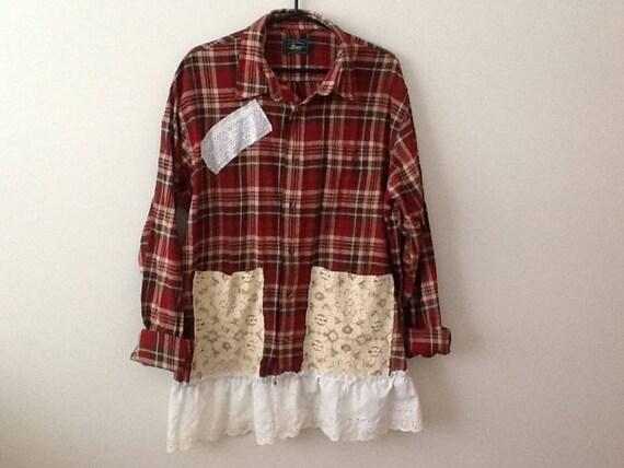 Upcycled Clothing Refashioned Shabby Rustic Country Boho