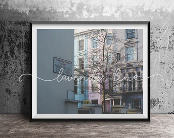 PORTOBELLO ROAD, Colour Photography Print, London, Street Photography, Cityscape, Wanderlust, Home Decor, Wall Art
