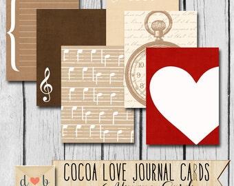 Digital Download - COCOA LOVE Vol. 1 - 6 individual 3x4 Digital Journaling Cards