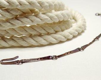 Bar Link Bracelet in Oxidized Copper, Minimalist Jewelry for Everyday Wear