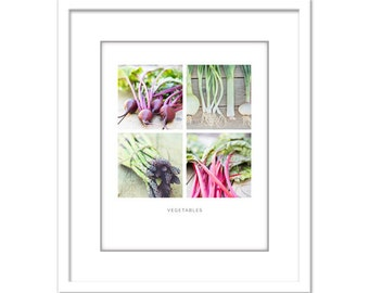 Food Photo - Vegetable Photo - Minimalist Photo - Food Photography - Dining Room - Fine Art Photography Print - Red Pink Green Modern Decor