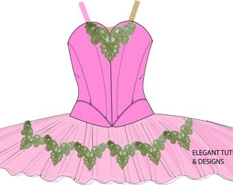 Size 10-12 Childrens stretch tutu pattern PDF