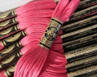 601, Dark Cranberry, DMC Cotton Embroidery Floss - 8m Skeins - Available in Full (12-skein) Boxes - Get Up To 50% OFF, see Description