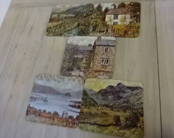 Set of 5 Table Mats/Scenes of The Lake District/Dining/Vintage Table Mats/Vintage Dining