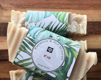 Fig Exfoliating Cold Process Handmade Bar of Soap