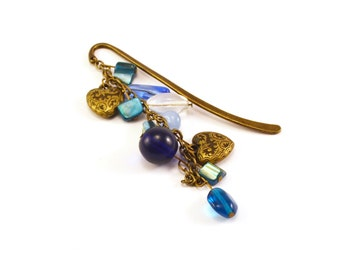 Blue Victorian Romance Bookmark