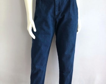 Vintage Women's 80's High Waisted Jeans, Tapered Leg, Denim by Cherokee (M)