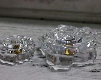 American Knobs Transparent Crystal Knobs Decorative Knobs Roses Knobs Door Knobs  524