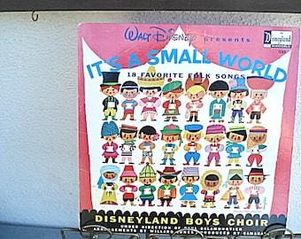 Walt Disney, It's A Small World,Disneyland Choir, Small World Record,Disneyland Record, Disney LP,Disney Folk Songs,International Disney